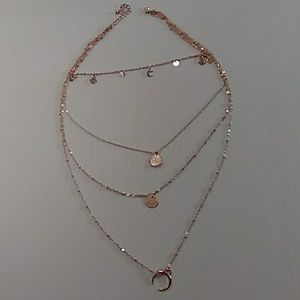 Four stranded fashion necklace